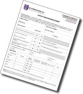 LG Professionals Employment Application image